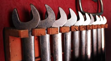 きちんと整理された道具たち
